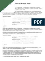 Evaluación Nacional Paradigmas 2013