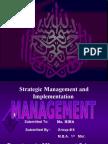 Strategic Management and Implementation