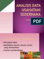 Analisis Data Usahatani Sederhana