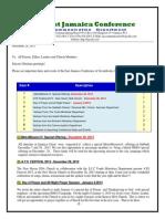 Communication -Advisory for Dec 28 -2013