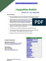 Health Inequalities Bulletin 20 - July-August 2009