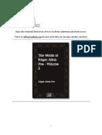 Works Edgar Allan Poe Volume 2 Edgar Allan Poe