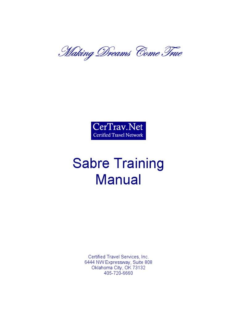 sabre training manual travel agency airlines rh es scribd com