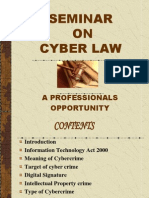 CYBER LAWS- A PROFESSIONALS OPPORTUNITY