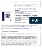 The Politics of Community Heritage by  Dr. E Crooke