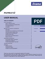 Iiyama LCD Monitor AU4831D User's Guide
