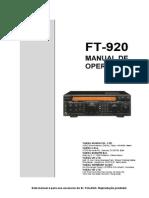 Manual FT-920