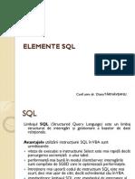 Cursul4_5 Elemente SQL
