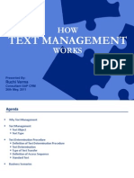 How Text Management Works