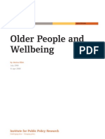 Older People and Wellbeing