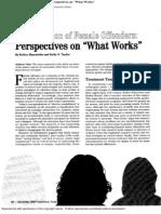 Reintegration of Female Offenders