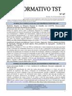 Informativo TST - 067
