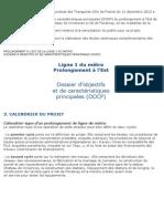extrait DOCP M 1 prolongement à Val - conseil du 11 décembre 2013