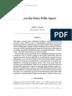 When the Euro Falls Apart