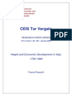 Franco Peracchi - Height and Economic Development in Italy 1730-1980