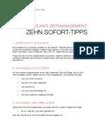 Zeitmanagement Zehn Sofort Tipps