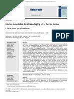 Efectos Inmediatos Del Kinesio Taping en La Flexion Lumbar