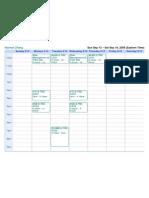Class Schedule Fall 2009