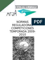 Normas reguladoras Temporada 2009-2010