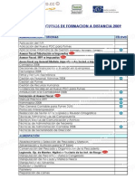 LISTADO DE CURSOS DE FORMACION A DISTANCIA 2010