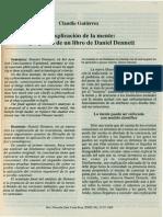 Claudio Gutierrez. La Explicacion de La Mente. a Proposito de Un Libro de Daniel Dennett