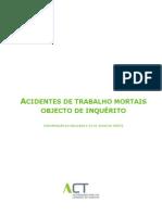 as Acidentes Mortais ACT 2005 2009