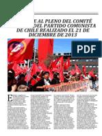 Informe Al Pleno Del Comite Central Del Partido Comunista de Chile Realizado El 21 de Diciembre de 2013