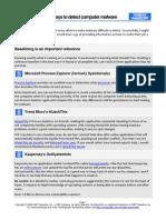 10 Ways to Detect Malware
