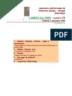 LAMPEA-Doc 2009 – numéro 29 / Vendredi 4 septembre 2009