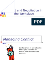 Conflict and Negotiation at Workplace