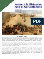 Flavio Giuseppe e La Distruzione Del Tempio Di Gerusalemme