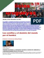Noticias Uruguayas sábado 28 de diciembre del 2013