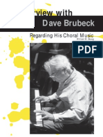 Interview With Dave Brubeck Regarding His Choral Music
