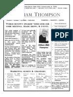 William Thompson Speaker Biography