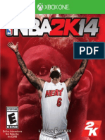 NBA 2K14 XBOX ONE MANUAL