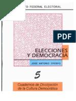 Cuaderno de Divulgacion de La Cultura Democratica Elecciones y Democracia