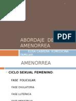ABORDAJE  de amenorrea