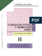 Cuaderno Ife Consulta Popular y Democracia Directa