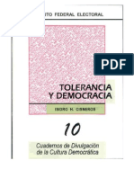 Cuaderno Ife Tolerancia y Democracia