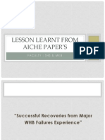 LESSON LEARNT FROM AICHE PAPER'S