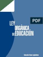 Ley Organica de Educacion