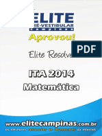 Elite Resolve ITA 2014 Matematica