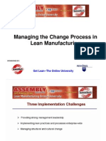 Managing the Change Process in Lean Manufacturing