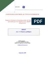Cours Financours finances publiques