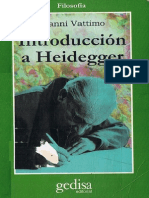 Gianni Vattimo - Introduccion a Heidegger
