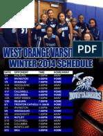 West Orange High School Varsity Girls Basketball Schedule 2014