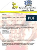 Meal Plan Instuctions
