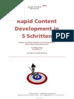 Ratgeber, Rapid Content Development in 5 Schritten