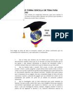 Como Elegir de Forma Sencilla Un Tema Para Tesis en Derecho