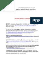 Referências Digitais Para a Disciplina Projeto de Sistemas